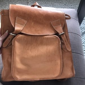 Raw leather backpack - thick and heirloom quality